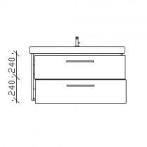 Pelipal Solitaire 9005 Waschtischunterschrank 950 mm zu Villeroy&Boch Subway 2.0 PG1