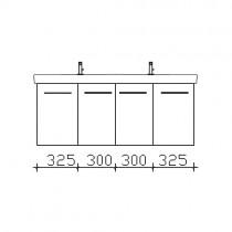 Pelipal Solitaire 9005 Waschtischunterschrank 1250 mm zu Villeroy&Boch Subway 2.0 PG1