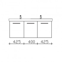Pelipal Solitaire 9005 Waschtischunterschrank 1250 mm zu Villeroy&Boch Subway 2.0 PG2
