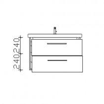 Pelipal Solitaire 9005 Waschtischunterschrank 800 mm zu Duravit DuraStyle PG2
