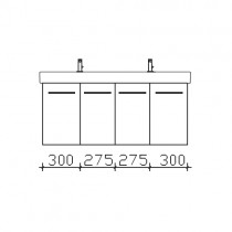 Pelipal iCon Solitaire 9005 Waschtischunterschrank 1150 mm