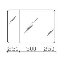 Pelipal, Solitaire 9005 Spiegelschrank mit abgerundeten Ecken, 1000mm