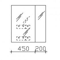 Pelipal Solitaire 6025 Spiegelschrank 650 mm