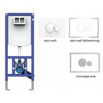 SANIT WC-Element INEO PLUS, Bauhöhe 1120 Betätigung von vorn, passende Betätigungsplatten zur Auswahl