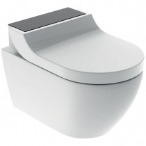 GE Geberit AquaClean Tuma Comfort WC-Komplettanlage Wand-WC Glas schwarz