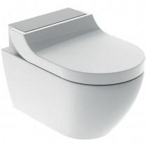 GE Geberit AquaClean Tuma Comfort WC-Komplettanlage Wand-WC Edelstahl geb.