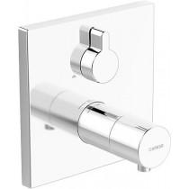 HA Funktionseinheit mit Dekorset Therm.- Thermostat-Batt. Hansaliving 4057 verchr