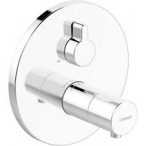 HA Funktionseinheit mit Dekorset Therm.- Thermostat-Batt. Hansaliving 4057 chrom