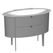 Burgbad Diva 2.0 Mineralguss-Waschtisch inkl. Waschtischunterschrank 1200 PG2 (SFJK120)