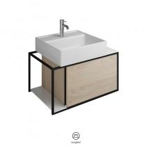 Burgbad Junit  Keramik-Waschtisch inkl. Waschtischunterschrank 765 (SFKE076)