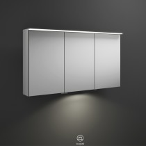 Burgbad Junit Spiegelschrank 1200 mit horizontaler LED-Aufsatzleuchte und Waschplatzbeleuchtung (SPIZ120)