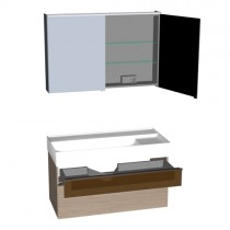 Burgbad Yumo Set 1020 mit Glaselement (SFKZ102)