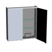 Burgbad Yumo Spiegelschrank 600 mit horizontaler LED- Aufsatzleuchte und Waschplatzbeleuchtung (SPIZ060)