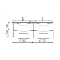 Pelipal Solitaire 6005 Waschtischunterschrank 1370
