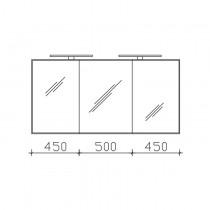 Pelipal Solitaire 6005 Spiegelschrank 1400