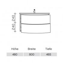 Pelipal Solitaire 9020 Waschtischunterschrank 820 PG2