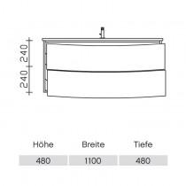 Pelipal Solitaire 9020 Waschtischunterschrank 1120 PG1