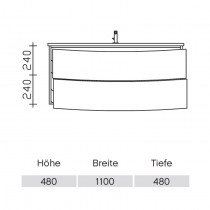 Pelipal Solitaire 9020 Waschtischunterschrank 1120 PG2