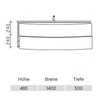 Pelipal Solitaire 9020 Waschtischunterschrank 1420 PG1