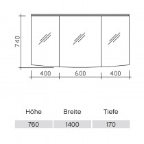 Pelipal Solitaire 9020 Spiegelschrank 1420