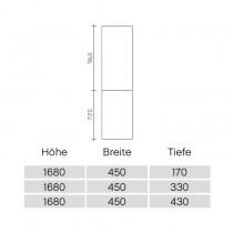 Pelipal Solitaire 9020 Hochschrank 45-01 PG1