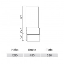 Pelipal Solitaire 9020 Midischrank 45-03 PG1