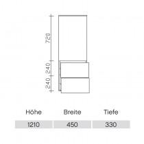 Pelipal Solitaire 9020 Midischrank 45-03 PG2