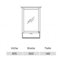 Pelipal Solitaire 9030 Spiegelschrank 490