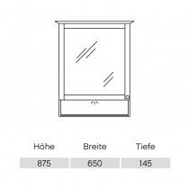 Pelipal Solitaire 9030 Spiegelschrank 650