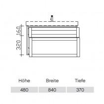 Pelipal Solitaire 9030 Waschtischunterschrank 860