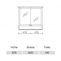 Pelipal Solitaire 9030 Spiegelschrank 900