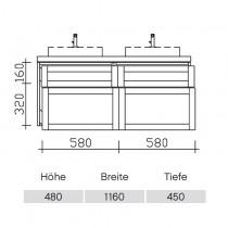 Pelipal Solitaire 9030 Waschtischunterschrank 1160