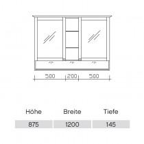Pelipal Solitaire 9030 Spiegelschrank 1215