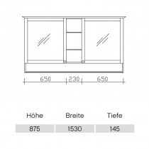 Pelipal Solitaire 9030 Spiegelschrank 1545