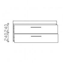 Pelipal Solitaire 9005 Duravit - ME by Starck Waschtischunterschrank 1230 PG2