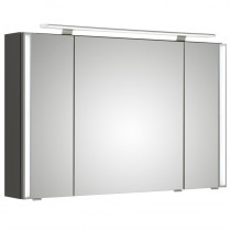 Pelipal S26 neutraler Spiegelschrank 1100 mit seitlichem Lichtprofil und Aufsatzleuchte
