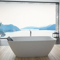 Hoesch Badewanne LaSenia 1500x700 freistehend flache Ausführung, Material Solique, weiß