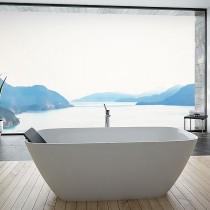 Hoesch Badewanne LaSenia 1800x800 freistehend flache Ausführung, Material Solique, weiß