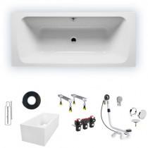 Riho Dola 170x75/weiß glänzend, Mittelablauf BB35005