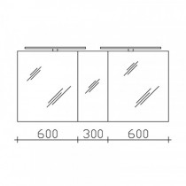 Pelipal S50 neutrale Spiegelschränke LEDrelax (SDAES5015)