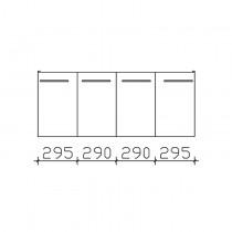 Pelipal Solitaire 9005 Keramag - Smyle Waschtischunterschrank 1200 PG1