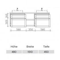 Pelipal Solitaire 9030 Waschtischunterschrank 1510