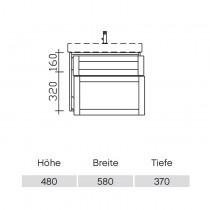 Pelipal Solitaire 9030 Waschtischunterschrank 610