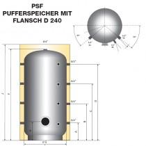 Austria Email Pufferspeicher PSF-500 - Ohne Isolierung Mit Flansch