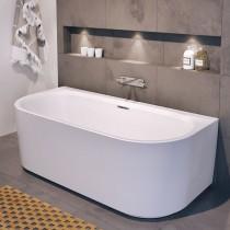 Riho Desire Sonderform-Badewanne 1800x840 mm, wandstehend, weiß