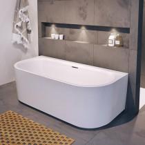 Riho Desire Sonderform-Badewanne 1800x840 mm, wandstehend, weiß, inkl. Riho Fall chrom