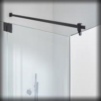 Sprinz Omega Black Edition Haltestange eckig, Glas/Wand, Länge: 1000 mm, schwarz matt B93-010