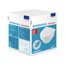 Villeroy & Boch Combi-Pack Architectura 4687 350x480mm DirectFlush wandh WeißAlpin C+